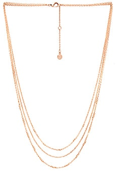 gorjana Joplin Layered Necklace in Rose Gold