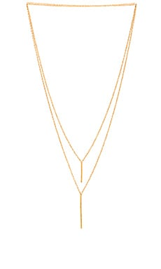 gorjana Kiernan Double Pendent Necklace in Gold