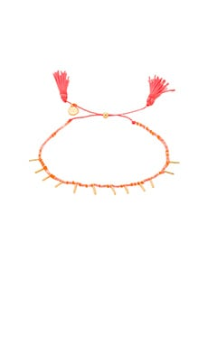 Marmont Beaded Bracelet in Gold & Coral