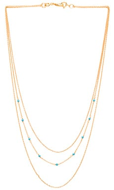 DIY Lagoon Chain 3 Layer Set Necklace in Gold & Turquoise