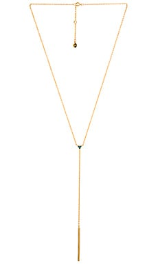 gorjana Carmen Reversible Lariat Necklace in Gold, Turquoise, & White
