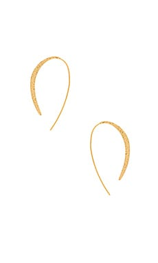 Paloma Thread Hoop Earring