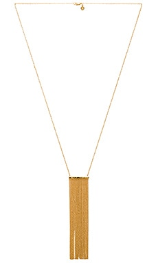 Twiggy Fringe Necklace in Gold