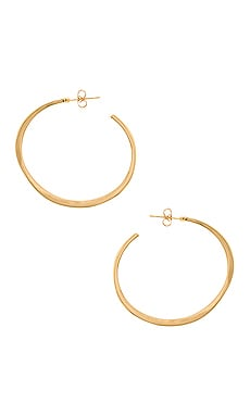 Arc Large Hoop Earrings in Gold