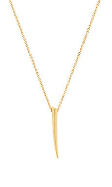 Horn Charm Necklace in Gold