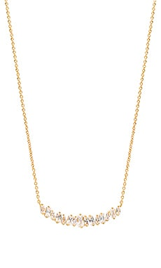 Amara Necklace in White CZ & Gold