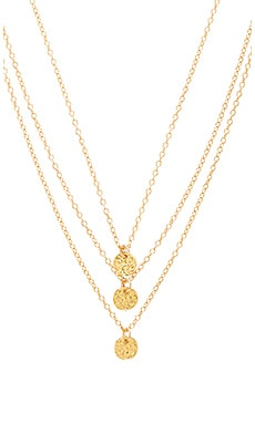 3 Disc Necklace in Gold