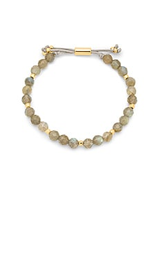 Power Gemstone Beaded Bracelet en Labradorite & Gold