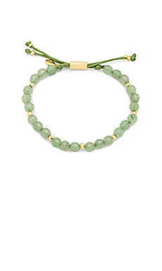 Power Gemstone Beaded Bracelet in Aventurine & Gold