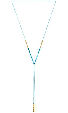 Power Gemstone Necklace in Turquoise & Gold