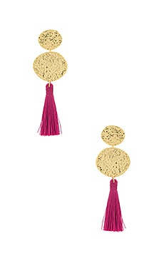 Phoenix Stud Earrings in Berry & Gold