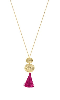 Phoenix Pendant Necklace in Berry & Gold