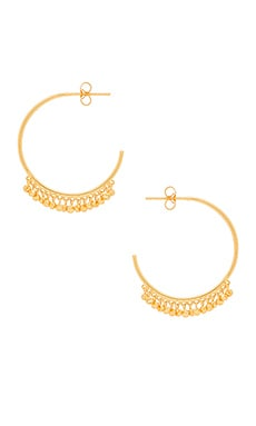 Chloe Mini Hoop Earrings in Gold