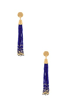Salina Beaded Tassel Earrings