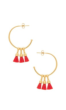 Baja Hoop Earrings in Poppy & Gold