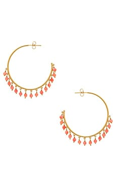 Sol Gemstone Hoop Earrings