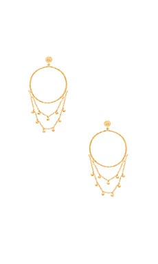 Sol Drape Hoop Earrings