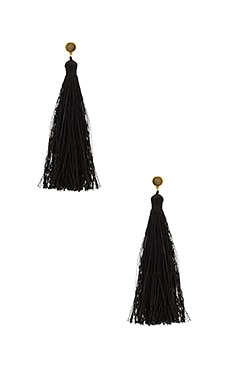 Tulum Gemstone Tassel Earrings