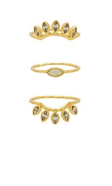 Купить Набор колец rumi burst - gorjana, Золотой, Китай, Металлический золотой