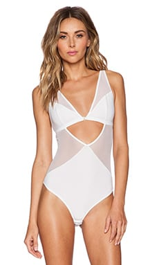 Gooseberry Intimates Effortless Bodysuit in White