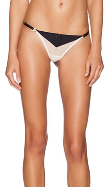 Gooseberry Intimates Effortless String in Black & Nude
