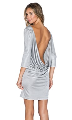 Grace Bloom Mini Dress in Silver Grey