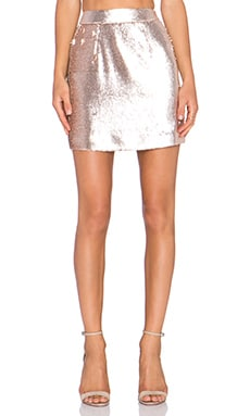 Grace Bina Mini Skirt in Soft Gold