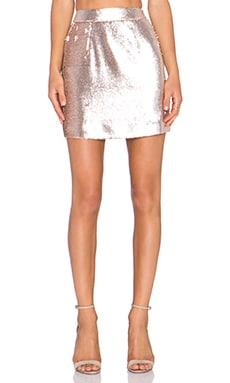 Grace Bina Mini Skirt in Soft Gold