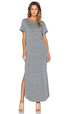 The Great The Knotted Tee Dress in Heather Grey