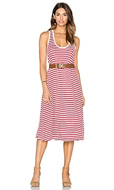 The Great The Swing Tank Dress in Vintage Red & Cream Stripe