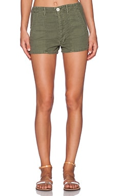 The Great The High Waist Army Short in Beat Up Army