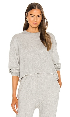 Sleep Cut Off Sweatshirt The Great $175 NEW