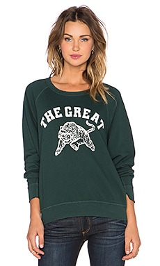The Great The Tiger Sweatshirt in Evergreen