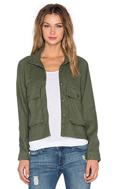 The Great The Swingy Army Jacket in Army Green