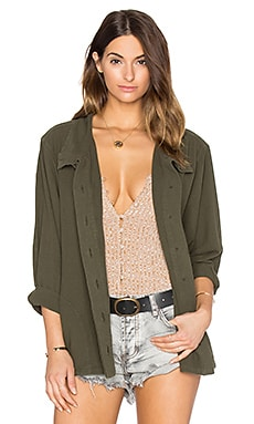 The Great The Slouchy Army Jacket in Dark Olive