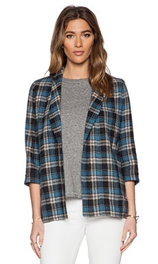 The Great The Undone Blazer in Blue Plaid