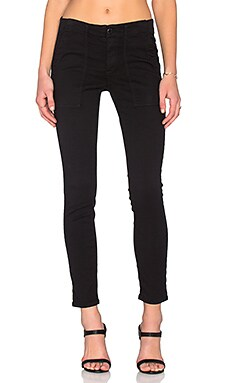 The Great The Skinny Army Pant in True Black