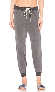 The Cropped Sweat Pant in Charcoal Heather Grey