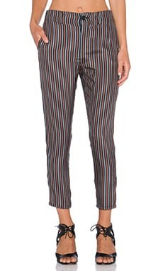 The Great The Long Slouch Slack Pant in Tie Stripe