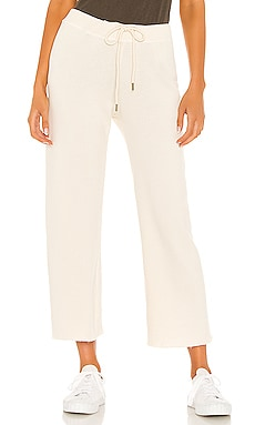The Cropped Wide Leg Sweatpant The Great $165