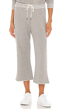 The Wide Leg Cropped Sweatpant The Great $165