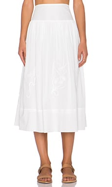 The Great The Tea Length Opera Skirt in White