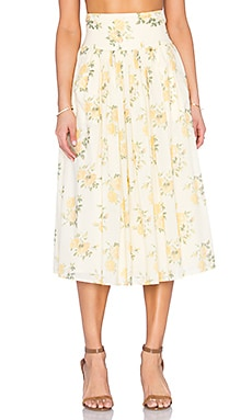 The Great The Day Skirt in Yellow Floral