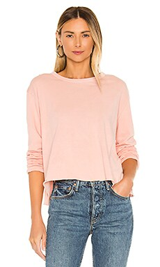 The Long Sleeve Crop Tee The Great $115