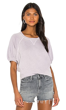 Puff Sleeve Sweatshirt Top The Great $185 NEW