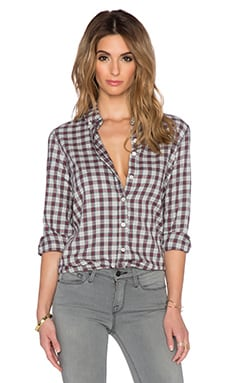 The Great The Swingy Oxford Top in School Boy Plaid