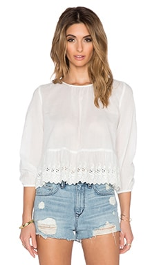 The Great The Honey Top in White Eyelet