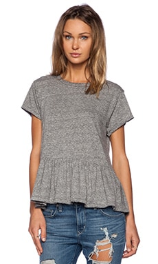 The Ruffle Tee in Heather Grey