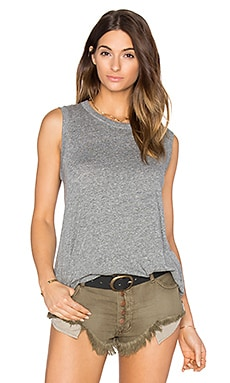 The Great The Sleeveless Crew in Heather Grey