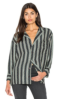 The Great The Pajama Shirt in Black Dottie Stripe